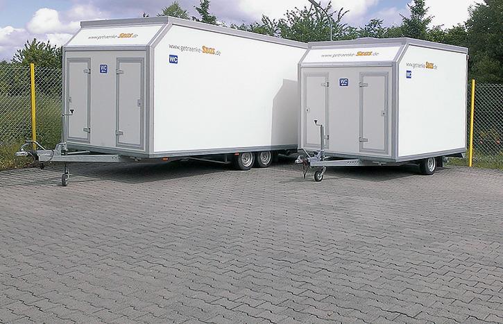 Verleih und Vermietung von mobilen Toilettenwagen